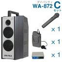 摄像机, 录像机 - 【送料無料】 ユニペックス (800MHz) ワイヤレスアンプ(WA-872)(ダイバシティ)+ワイヤレスマイク(2本)+チューナーユニットセット [ WA872-Cセット ]