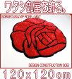 心が和む ローズラグ 薔薇 ゴージャスかつVIPラグ ローズシャギーマットが登場 約120×120cm 玄関マット ベットサイドマット リビング 寝室 子ども部屋のアクセントマットとして存在感抜群 サラサラ肌触りで清潔感満点のラグ カーペット