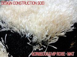 ゴージャスかつVIPラグローズシャギーマットが登場約120×120cm玄関マットベットサイドマットリビング寝室子ども部屋のアクセントマットとして存在感抜群サラサラ肌触りで清潔感満点のラグカーペット