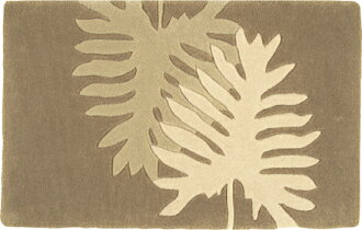 Cute size mat 50 * popular 80 cm natural leaf design ☆ now so I'm selling doormats on sale in limited time ★ cheap price! Please purchase before supplies run out! Ideal for accent mat, East リマット