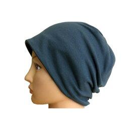 【コンビニ受け取り不可】【メール便 送料180円】リバーシブル綿のTシャツ帽子 アオ×ブラック C005 帽子 PEER【PE】