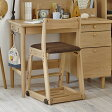 イトーキ 学習椅子 2016 / イトーキ 木製チェア KM26-73SB 布張り ソイナチュラル・スモークブラウン