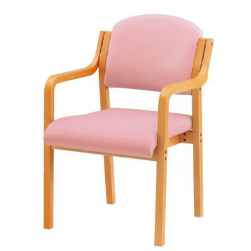 TOKIO 木製チェア 4脚セット 肘付 ビニールレザー ダイニングチェア スタッキングチェア 椅子 FVK-5AL-SET 送料無料!藤沢工業 トキオ まとめ買い セット販売 福祉 介護 施設 デイルーム 食堂 医療 ミーティングチェアー(いす イス 椅子)会議椅子 オフィス用 業務用 積み重ね チェアー