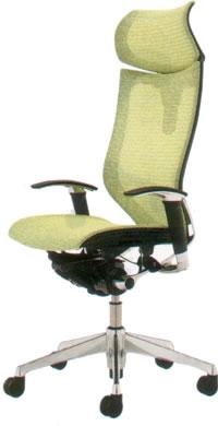 オカムラ  バロン チェア エクストラハイバック 可動ヘッドレスト アジャストアーム シルバーフレーム座メッシュCP81CS パソコンチェア パソコンチェアー バロン ランバー付