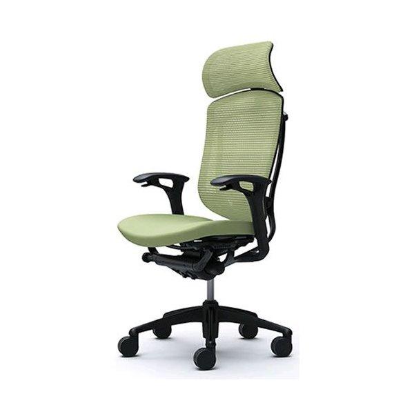 オカムラ  コンテッサ チェア 大型ヘッドレスト 可動肘 ボディーネオブラック ブラックフレーム 背メッシュ 座クッション CM92BB パソコンチェア パソコンチェアー オフィスチェア 椅子 チェアー 会議室 PCチェア PC オフィス