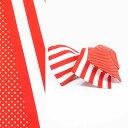女裝 - 半巾帯 赤白 ボーダー ドット