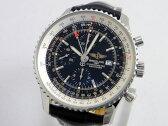 ブライトリング ナビタイマーワールド SS/クロコ A24322 A242B26WBD 黒文字盤 Dバックル メンズ 腕時計【中古】【ブライトリング】【ナビタイマー】【A24322】【パイロット】