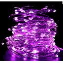 USB給電 LED ワイヤーライト 10m LED100灯 ピンク 生活防水 LED イルミネーショ...