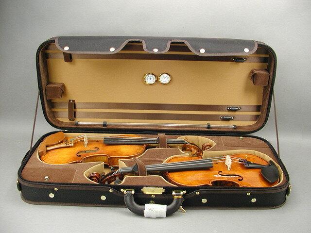 ダブルバイオリンケース(外装:ブラック)