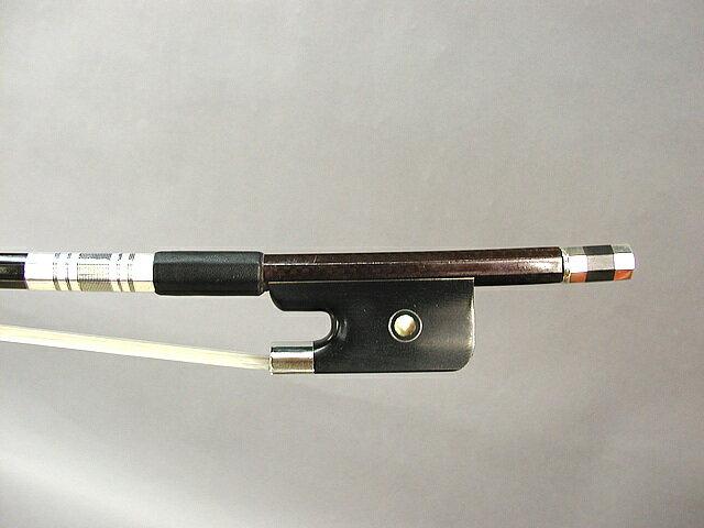 チェッカーカーボン コントラバス弓フレンチタイプ:ブラウン