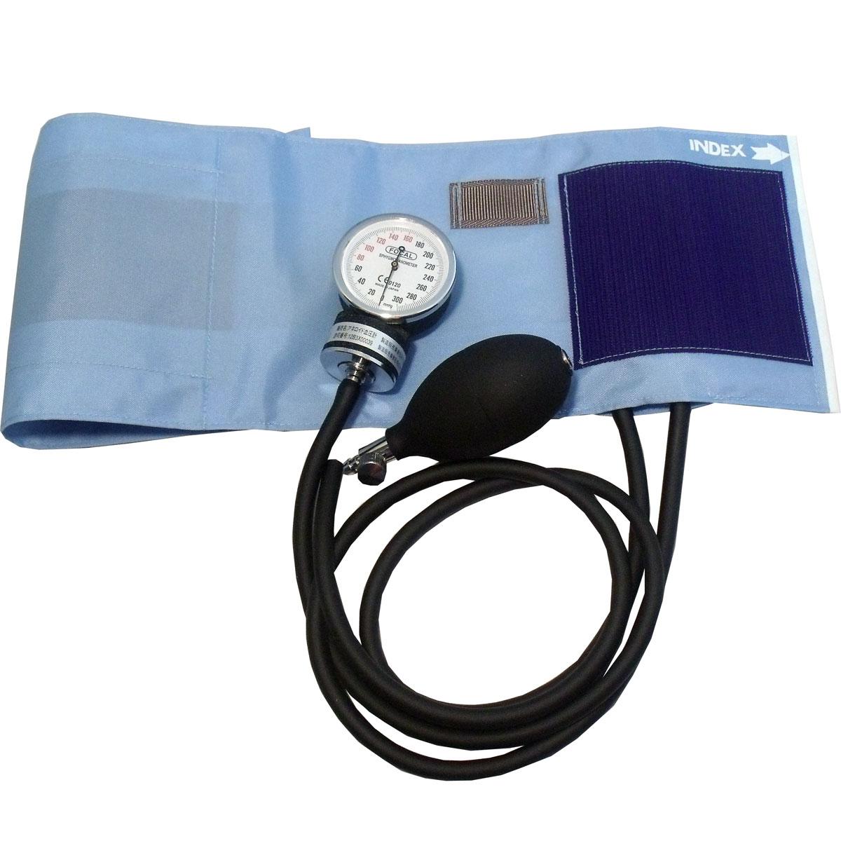 FOCAL アネロイド血圧計 FC-100V ナイロンカフ スカイブルー