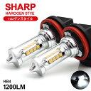 SE3P 後期 RX-8 LED フォグランプ HB4 80W SHARP/シャープ製LEDチップ搭載 遮光シェード/サイド発光 ハロゲンス...
