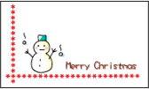 メッセージカード カード -1 Merry Christmas プリザーブドフラワー 花材 【あす楽対応_関東】