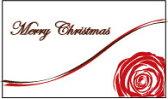 メッセージカード カード -6 Merry Christmas プリザーブドフラワー 花材 【あす楽対応_関東】