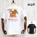 HUF×BUDWEISER ハフ バドワイザー イーグル ロゴ Tシャツ EAGLE S/S TEE BLACK WHITE 半袖 コラボ トップス ホワイト 白 ブラック 黒 メンズ 男性 レディース 女性 カジュアル ストリート ブランド TOPS