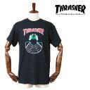THRASHER スラッシャー ダブルス S/S Tシャツ メンズ 半袖 S M L XLサイズ ブラック 黒 BLACK DOUBLES T-SHIRT