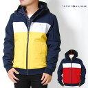 トミーヒルフィガー パーカー アウター ボンバージャケット メンズ S M L XL XXLサイズ イエロー 黄 ネイビー 紺 レッド 赤 USモデル TOMMY HILFIGER ナイロン 中綿 長袖 2L 3L 大きいサイズ