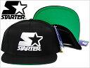 【あす楽対応商品】STARTER BLACK LABEL S-Star With Wordmark SNAPBACK CAP BLACK スターター スナップバック キャップ 帽子 ブラック メンズ 男性 レディース 女性 小物 アクセサリー 黒 ST20103-120