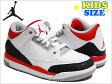ジョーダン スニーカー NIKE AIR JORDAN 3 RETRO (PS) KIDS WHITE RED BLACK ナイキ エア ジョーダン 3 レトロ ホワイト レッド ブラック 白 赤 黒 スニーカー 靴 レディース ウィメンズ ガールズ キッズ ボーイズ 女性 子供 スポーツ ストリート HIPHOP NBA 429487 120 21cm