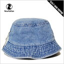 再入荷! バケットハット メンズ レディース NEWHATTAN BUCKET HAT LIGHT BLUE DENIM INDIGO ニューハッタン コットン バケットハット ライト ブルー デニム 淡青 インディゴ メンズ 男性 レディース 女性 小物 アクセサリー 帽子 キャップ ハット 1530