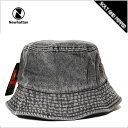 バケットハット メンズ レディース NEWHATTAN BUCKET HAT BLACK DENIM ニューハッタン コットン バケットハット ブラック デニム 黒 メンズ 男性 レディース 女性 小物 アクセサリー 帽子 キャップ ハット 1530