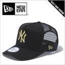 送料無料 NEWERA ニューエラ CAP D-フレームトラッカー MLB ニューヨーク ヤンキース BLACK ブラック 黒 GOLD ゴールド 金 スナップバック メンズ 男性 レディース 女性 メッシュ キャップ 帽子 ハット 小物 11120228