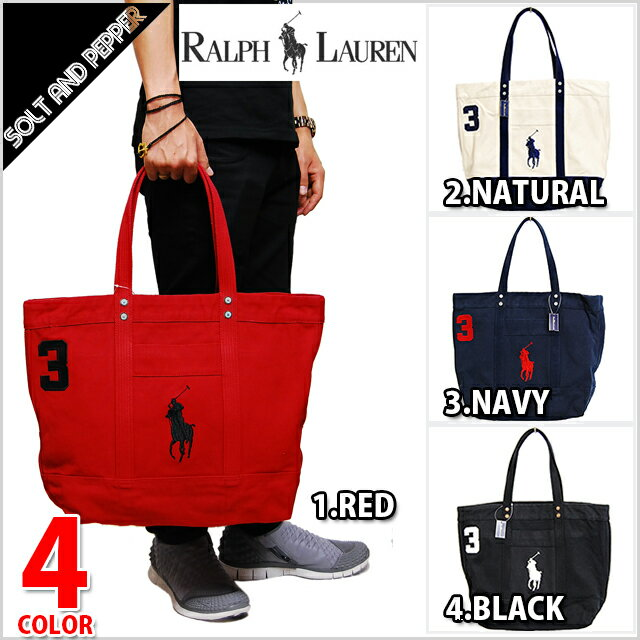POLO RALPH LAUREN �ݥ���ե��� BIG PONY ZIP TOTE BAG back canvas Thoth Boston RED red WHITE white NAVY navy BLACK black BAG bag dark blue white red ...