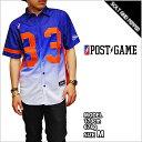 再入荷 ポストゲーム バスケシャツ POST GAME NYC MESH WOVEN BASKETBALL SHIRTS BLUE WHITE ORANGE ナンバーロゴ 33 バスケットボール メッシュ シャツ ブラウス メンズ 男性 レディース 女性 ブルー 青 ホワイト 白 オレンジ 橙 半袖 トップス POSTGAME