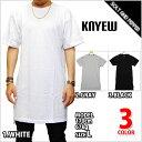 KNYEW HI-LO T-SHIRTS GRAY WHITE BLACK ニュー イーロング ロング丈 Tシャツ グレイ ホワイト ブラック 灰 白 黒 半袖 トップス メンズ 男性 レディース 女性 ファッション 日本未発売