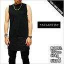 ATLANTIS PAISLEY SKIRT TANKTOP BLACK アトランティス ペイズリー スカート タンクトップ 柄 ブラック 黒 ノースリーブ メンズ 男性 レディース 女性 HIPHOP ヒップホップ ストリート ブランド 通販 ロング丈