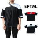 【送料無料】EPTM エピトミ FOOTBALL JERSEY MESH TEE BLACK RED WHITE フットボール ジャージ メッシュ Tシャツ ブラック 黒 レッド 赤 ホワイト 白 半袖 メンズ 男性 レディース 女性 カジュアル eptm