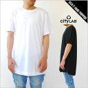 CITY LAB シティーラブ E-LONG T-SHIRTS ロング丈 Tシャツ 半袖 ホワイト 白 ブラック 黒 無地 シンプル 男性 トップス ストリート kanyewest yeezy yeezus CITYLAB 大きいサイズ有