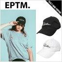 【送料無料・あす楽対応】 EPTM エピトミ DAD CAP LOGO STRAPBACK BELT BLACK WHITE ストラップバック キャップ アジャスター コットンツイル ロゴ ホワイト ブラック 白 黒 キャップ メンズ 男性 レディース 女性 帽子 eptm ストリート