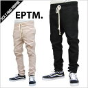 【送料無料・あす楽対応】EPTM エピトミ BREAK BEATS PANTS BLACK BEIGE ブレイク ビーツ パンツ スリムパンツ ブラック 黒 ベージュ 肌色 新作 メンズ 男性 レディース 女性 ストリート ブランド eptm.