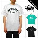 STUSSY ステューシー SOUNDS TEE WHITE BLACK GREEN TOPS LOGO サウンド Tシャツ ロゴ トップス 半袖 ブラック 黒 ホワイト 白 グリーン 緑 メンズ 男性 ストリート ブランド スケーター ヒップホップ HIPHOP