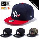 NEWERA ニューエラ Kid's 9FIFTY MLB HEART キッズ MLBハート ニューヨーク・ヤンキース ホワイト ブラック ネイビー レッド ゴ...