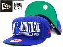 送料無料 【あす楽対応商品】NEWERA SNAPBACK CAP MLB MONTREAL EXPOS BLUE/WHITE ニューエラ スナップバック キャップ メジャーリーグ べスボール モントリオール エクスポス ブルー/ホワイト 帽子 メンズ/レディース 兼用 ユニセックス