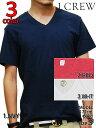 【NY買い付け商品!!】J.CREW V NECK T-SHIRTS 3COLOR WHT/NVY/RED ジェイクルー 無地 Vネック Tシャツ 半袖 3色 ホワイト/ネイビー/レッド 白/紺/赤