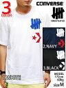 送料無料 アンディフィーテッド UNDEFEATED RUNNING×CONVERSE ONE POINT T-SHIRTS WHT/NVY/BLK アンディフィデット×コンバース コラボ ワンポイント Tシャツ 半袖 シャツ ホワイト/ネイビー/ブラック 3カラー メンズ 白/紺/黒 3色 男性
