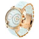期間限定50%OFF (公式) アンコキーヌ AnneCoquine 腕時計 時計 <2-フェイスウォッチ ホワイトベルト×ゴールドベゼル 1229-0101> スワ..