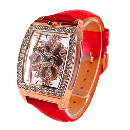 アンコキーヌ ぐるぐる時計 スクエアースケルトン...の商品画像