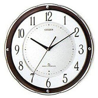 ()♪ citizen / rhythm clock electric wave wall clock three wave M805 4MY805-006fs3gm removing Hokkaido, Okinawa, a remote island)