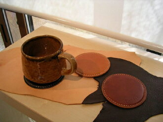 Hand-made leather Nume leather water play! Dan-I11 coaster upup7