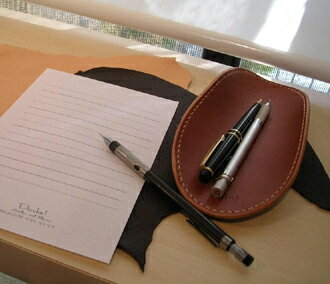 Perfect for stylish handmade Nume leather レザーペン tray pen compartment desk ♪ DAN-I12fs3gm