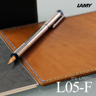 The constant seller of constant sellers! It is good to the stationery LAMY Lamy logo stainless steel black fountain pen L05 F( small characters) L05-F present of adult! fs3gm