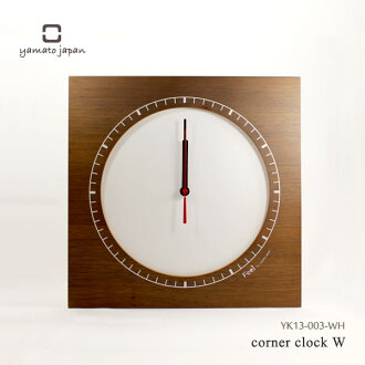It is good to Yamato industrial arts present! Wood clock corner clock W white clock YK13-003-WH to be able to put at the corner of the room