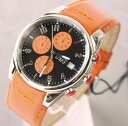 It is 10P17May13 D&G TIME ドルガバ SANDPIPER chronograph watch black X orange 3719770107 [Luxury Brand Selection] [easy ギフ _ packing] [RCP] [men gift] [lapping free of charge]