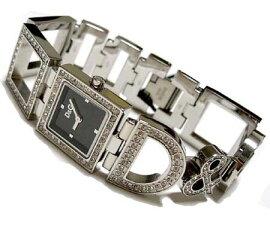 D&GTIMEドルガバDAY&NIGHTレディースジルコニア付SSベルト腕時計3719251532