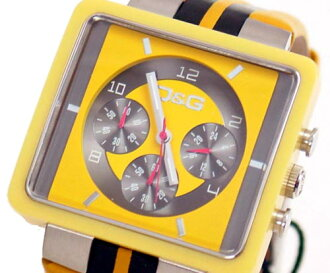 D & G TIME d & g CREAM Chronograph Watch DW0063 yellow / black 10P01Sep1310P13Sep1310P25Sep13