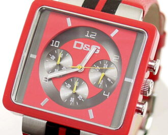 D & G TIME d & g CREAM Chronograph Watch DW0064 red x black 10P17May13